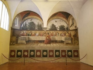 Last Supper by Ghirlandaio in Ognissanti church, Florence, Italy