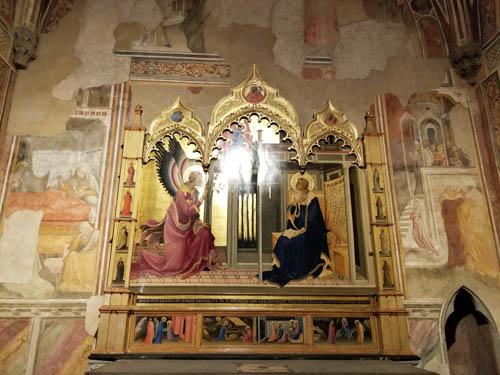 Chapel decoration in Santa Trinita church, Florence, Italy