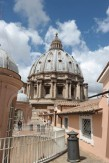 Atop the roof of St. Peter's Basilica