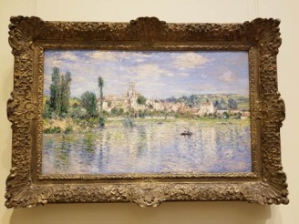 Photo of Monet painting, Metropolitan Museum of Art, NYC