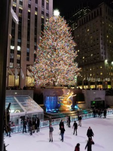 Photo of Rockefeller Center Christmas tree and skating rink, NYC
