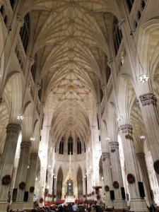 Photo of interior of St. Patrick's Cathedral, NYC