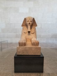 Sphinx of Hatshepsut, 18th dynasty, Thebes 1473-1458 BC, originally from her temple at Deir-el-Bahri, Metropolitan Museum of Art, New York City