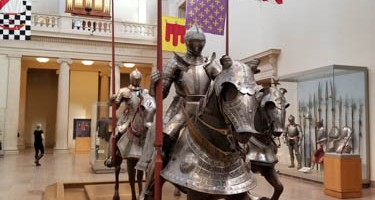 Hall of Arms and Armor at Metropolitan Museum of Art, New York City