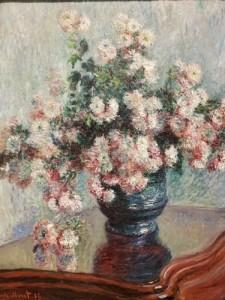 Painting by Claude Monet, Chrysanthemums, 1882, Metropolitan Museum of Art, New York City