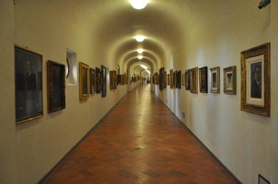 Vasari Corridor in Florence, Italy