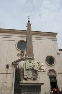 Bernini elephant statue, Rome, Italy, Santa Maria sopra Minerva, Piazza della Minerva