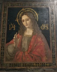 Museo Horne, Florence, Italy, painting from School of Leonardo da Vinci, Christ the Savior