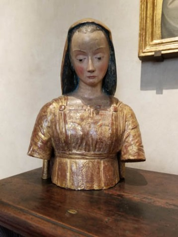 Museo Horne, Florence, Italy, Virgin Annunciate statue, Lucchese