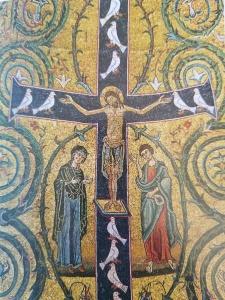 Crucifixion mosaic, Basilica San Clemente, Rome