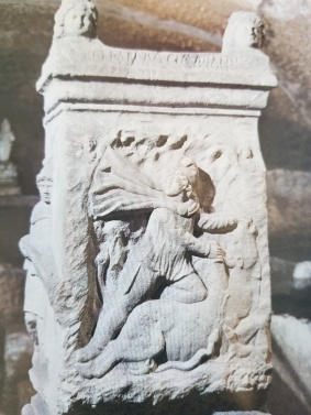 Mithraic altar in triclinium, Basilica San Clemente, Rome