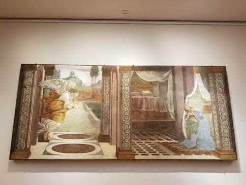 Sandro Botticelli, Annunciation, Uffizi Gallery, Florence, Italy, Renaissance art