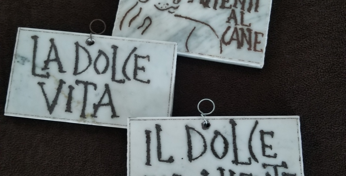 Marble plaques from Rome Italy; Souvenirs to Buy in Rome