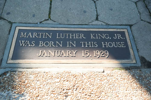 Plaque in front of MLK Birth House, Martin Luther King Jr, Atlanta, Georgia, MLK HIstoric Site, Civil Rights History