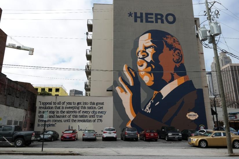 John Lewis Mural, Sweet Auburn, Atlanta, Georgia, MLK HIstoric Site, Civil Rights History
