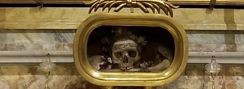 Saint Valentine's Skull, Rome, Italy, Santa Maria in Cosmedin Church