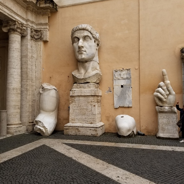 Colossal of Constantine, Capitoline Museum, Rome, Italy