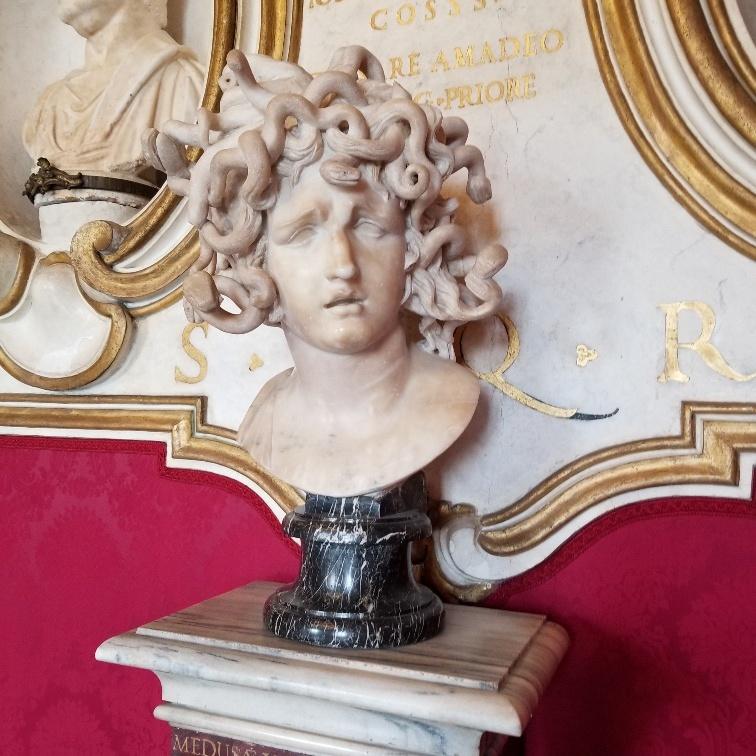 Bernini's Medusa, Capitoline Museum, Rome, Italy