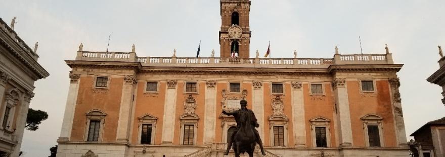 Piazza del Campidoglio, Palazzo Senatario, Rome, Italy