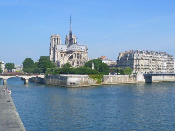 Notre Dame Cathedral Paris, Rear View