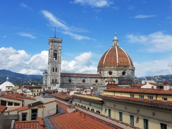 Duomo and campanile in Florence Italy.