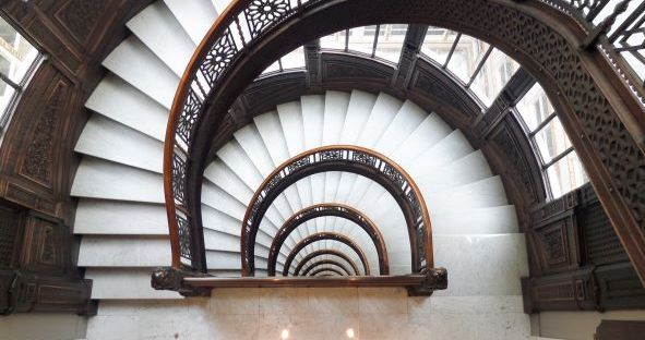 Photograph of Rookery Stairs, Chicago, Illinois