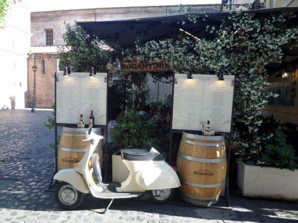 Vespa in Trastevere, Rome, Italy