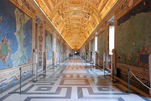 Hall of Maps in Vatican, Rome, Italy