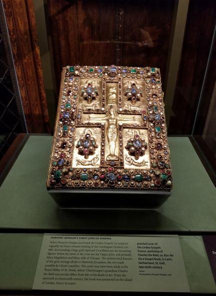 Pierpont Morgan's Finest Jeweled Binding, Morgan Library NYC, New York, Manhattan